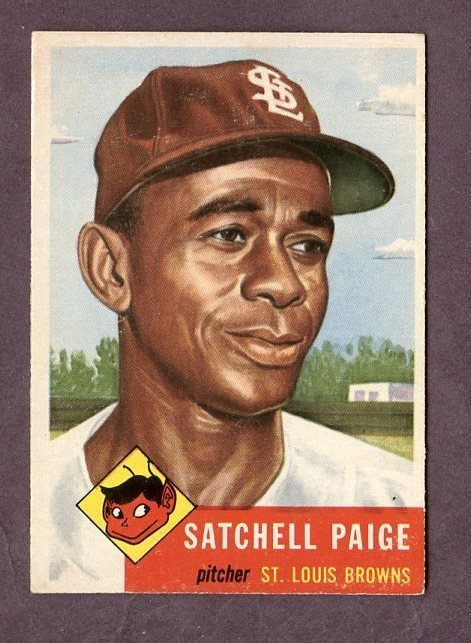 Satchel Paige 1953 Card, Click to See on eBay