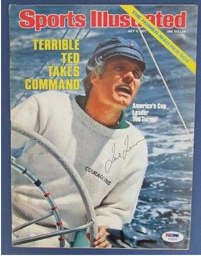 Ted Turner Americas Cup 1977 Signed Sports Illustrated
