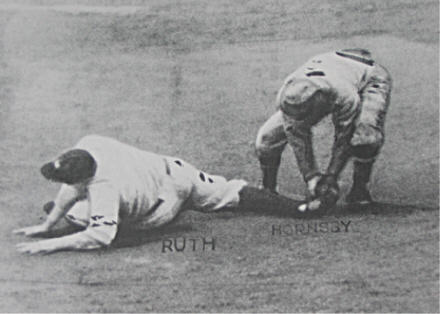 Babe Ruth Caught Stealing to end the 1926 World Series