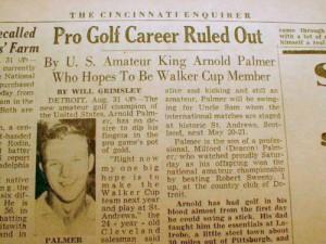 Arnold Palmer Wins Amateur 1954