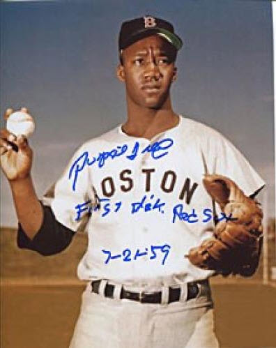 Pumpsie Green First Black Red Sox 8x10 Autographed $45.90  Click here to see more Pumpsie Green  collectibles