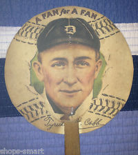 Very Rare Vintage Ty Cobb A Fan