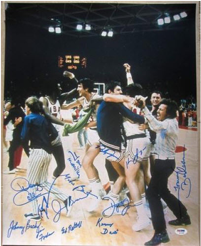 1972 Team USA Basketball Team Signed 16x20 Photo