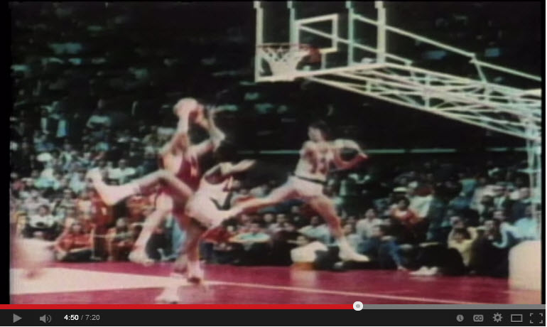 1972 U.S. Olympic basketball streak ended, losing to Soviets.