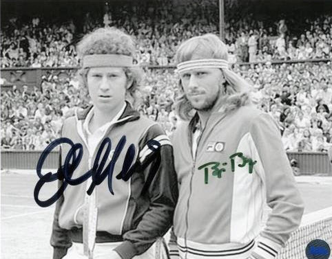McEenroe Borg U.S. Open 1980 - Autographed 8x10 Click here to see this and more 1980 U.S. Open collectibles