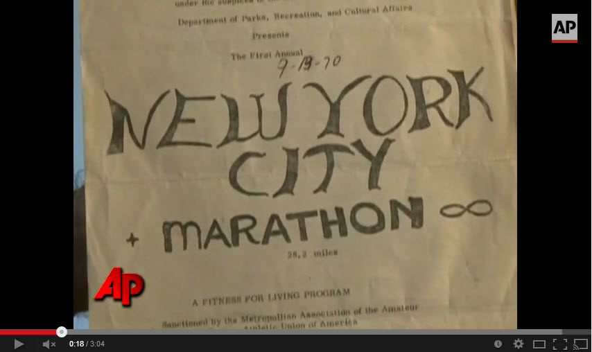 New York Marathon First Running 1970