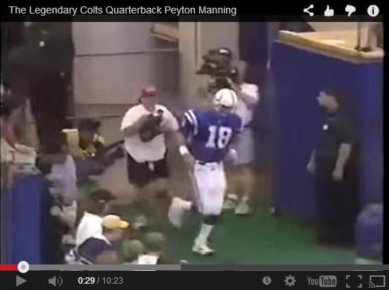 Peyton  Manning Debut September 6, 1998