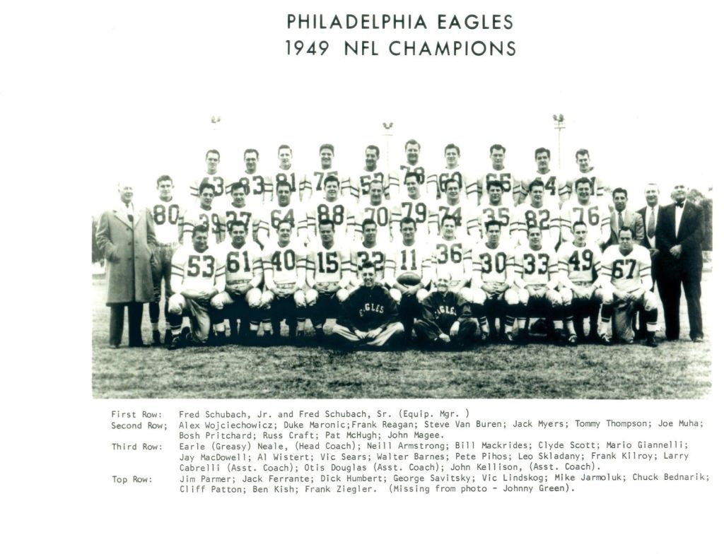 Philadelphia Eagles 1949 NFL Champions